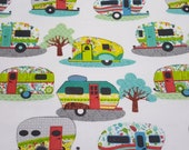 Flannel Fabric - Glamping Fun - REMNANT - 100% Cotton Flannel