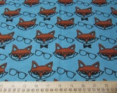 "Flannel Fabric - Mr Fox - 24"" REMNANT - 100% Cotton Flannel"