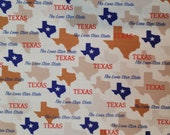 Cotton Fabric - Texas State Pride Quilt Cotton - Select Your Size or By The Yard - 100% Cotton Fabric