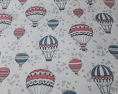 """Flannel Fabric - Air Balloons - 26"""" REMNANT - 100% Cotton Flannel"""