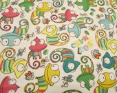 "Flannel Fabric - Chameleons - 33"" REMNANTS - 100% Cotton Flannel"