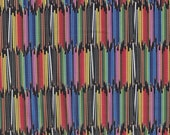 Colored Pencils Cotton Quilting Fabric, Teacher, Back To School, Education, Crafts - Select Your Size or By The Yard - 100% Cotton Fabric