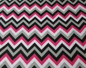 """Flannel Fabric - Chevron Beetroot - 32"""" REMNANT - 100% Cotton Flannel"""