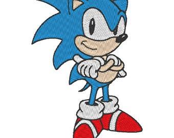 Sonic Blue hedgehog - Embroidery Design Download
