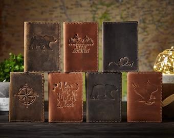 Engraved travel gift, personalized passport leather cover, custom passport, passport holder, leather passport case, engraved wanderlust gift