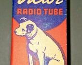 Vintage RCA Victor 3Q5 GT Vacuum Radio Tube Nipper The Dog Graphics NOS