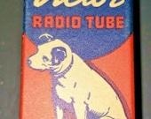 Vintage RCA Victor 5Z4 Vacuum Radio Tube Nipper The Dog Graphics NOS