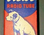Vintage RCA Victor 6SA7 Vacuum Radio Tube Nipper The Dog Graphics NOS