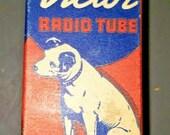 Vintage RCA Victor 7Y4 Vacuum Radio Tube Nipper The Dog Graphics NOS