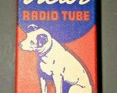 Vintage RCA Victor 1LB4 Vacuum Radio Tube Nipper The Dog Graphics NOS