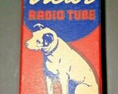 Vintage RCA Victor 117L7 GT Vacuum Radio Tube Nipper The Dog Graphics NOS