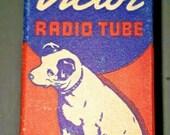 Vintage RCA Victor 7C5 LT Vacuum Radio Tube Nipper The Dog Graphics NOS