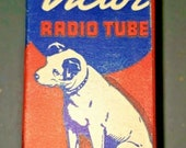 Vintage RCA Victor 7B8-Lm Gt Vacuum Radio Tube Nipper The Dog Graphics New Old Stock