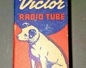 Vintage RCA Victor IC5 GT G Vacuum Radio Tube Nipper The Dog Graphics NOS