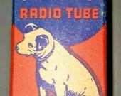 Vintage RCA Victor 1217 GT Vacuum Radio Tube Nipper The Dog Graphics NOS
