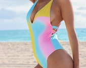 Multi-Color One Piece Swimsuit