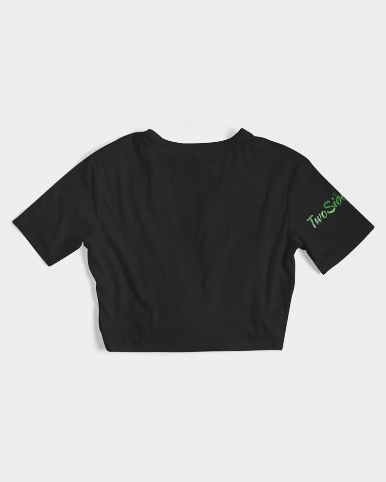 Women/'s Twist-Front Cropped Tee Bad Bitch Good Weed