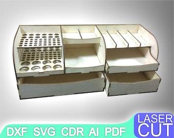 Organizer Laser cut files SVG DXF, CDR vector plans, laser file, cnc pattern, cnc cut, laser cut, Digital, Vector Files, Cdr, Ai, Svg