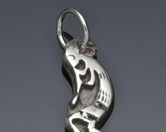 Silver Kokopelli charm, Kokopelli Symbol,