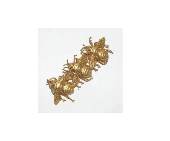 Joseff of Hollywood Three Bees Pin Brooch