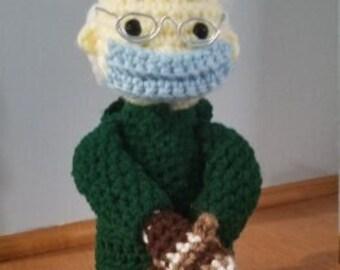 RESERVED Crochet Bernie Doll