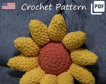 Crochet Pattern   Sunflower Pillow   Sunflower Plush