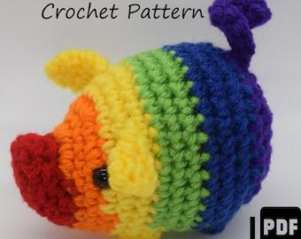 Gay Pride Pig Crochet Pattern