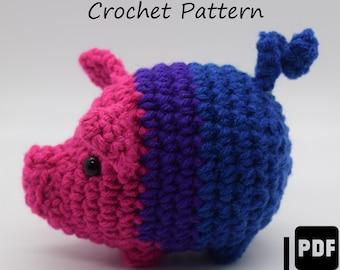 Bisexual Pride Pig Crochet Pattern