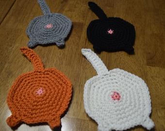 Free Cat Butt Potholder Crochet Pattern - We Three Shanes | 270x340