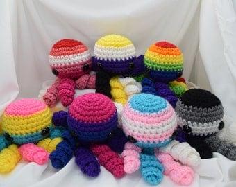 Crochet LGBTQ+ Pride Octopus