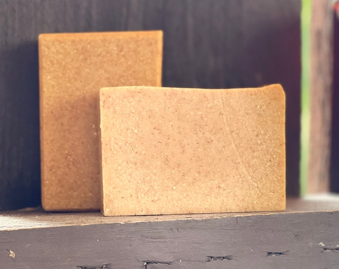 Sweet Orange Turmeric Eczema Soap | Anti-inflammatory facial cleanser & body wash | hydrate heal