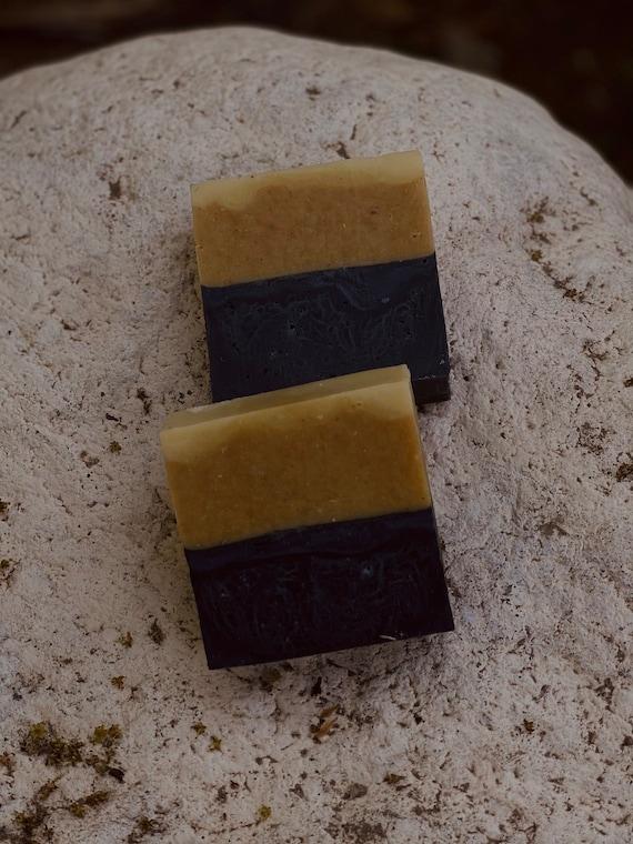 Charcoal & Turmeric | Gentle Exfoliation | Hands, Body, Facial Bar Soap | Body Hydration