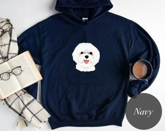 Dog face Hoodie - Cute Hoodie - College, Gildan, Camping Hoodie - Gift for Her, Gift for Him, Best friend gift - H1072