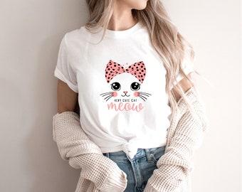 Very Cute Cat Shirt - Pumpkin shirt - Popular right now - shirt - T shirt for women-T shirt for her - gift for best friend -T1075
