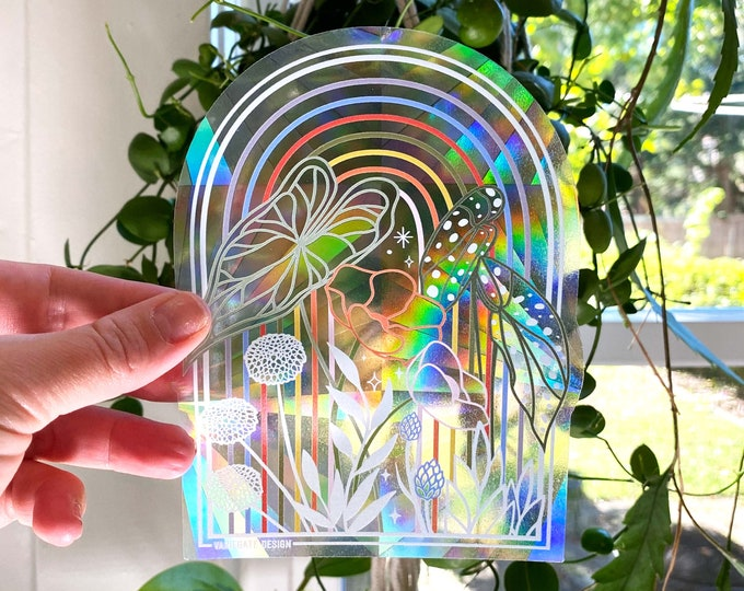 STICKER   Plant Mutha   Rainbow Making Suncatcher Window Decal
