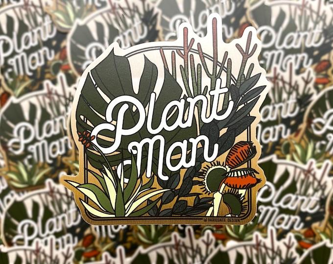 STICKER   Plant Man