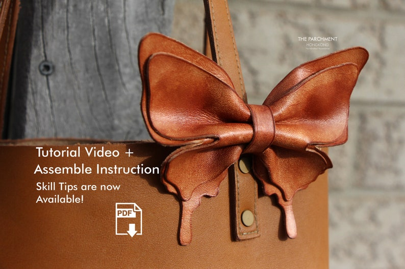 Leather Bow Tie Hair Bow Leather Patterns Leather Pdf image 0