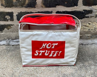 vintage thermal bag Vintage lunch box food storage Vintage bag 60s  70s Hot Stuff Lunchbox Thermal cooler
