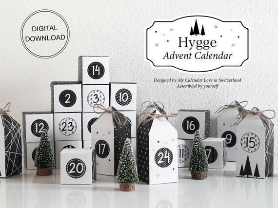 Printable Advent Calendar HYGGE Countdown to Christmas DIY