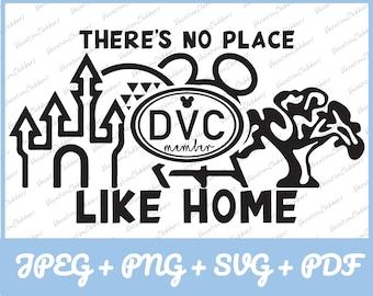 "DVC ""There's No Place Like Home"" T-Shirt Logo (Jpeg+Png+Svg+Pdf)"