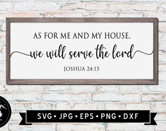 Metal Wall Sign We Will Serve The Lord V1