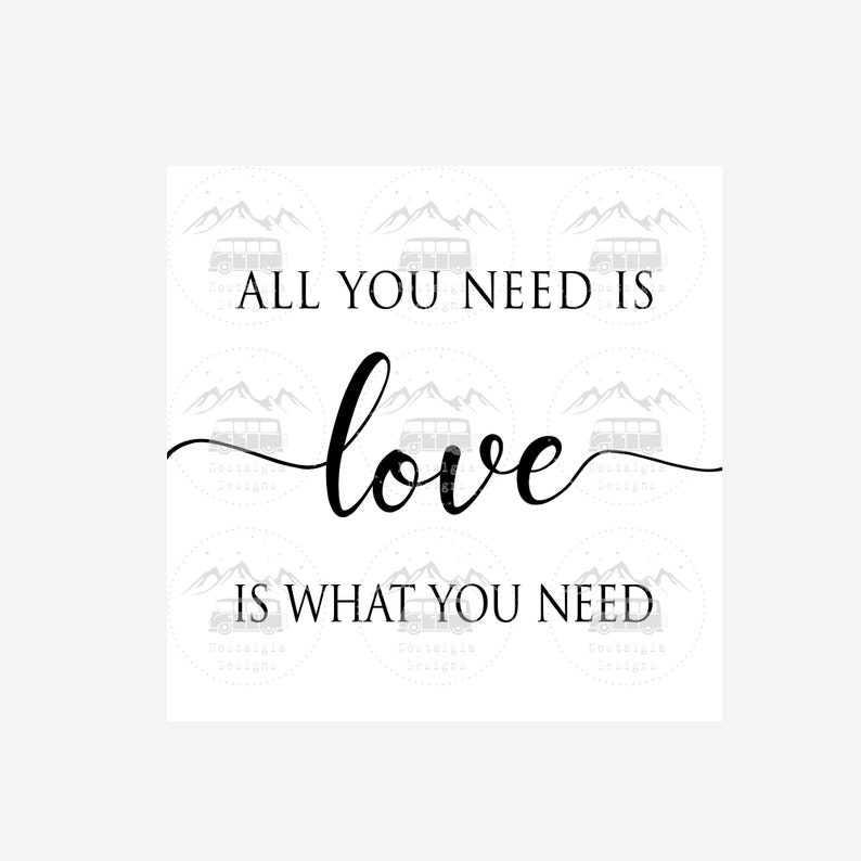 House Warming gift Cutting File Digital Download Vintage Inspirational Wall sign All you need is Love Love is What You Need SVG