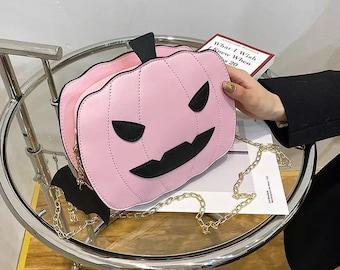 Halloween Purse Pumpkin Purse Goth Purse Pumpkin Bag Halloween Bag Purse Gothic Halloween Bags Halloween Purses and Handbags