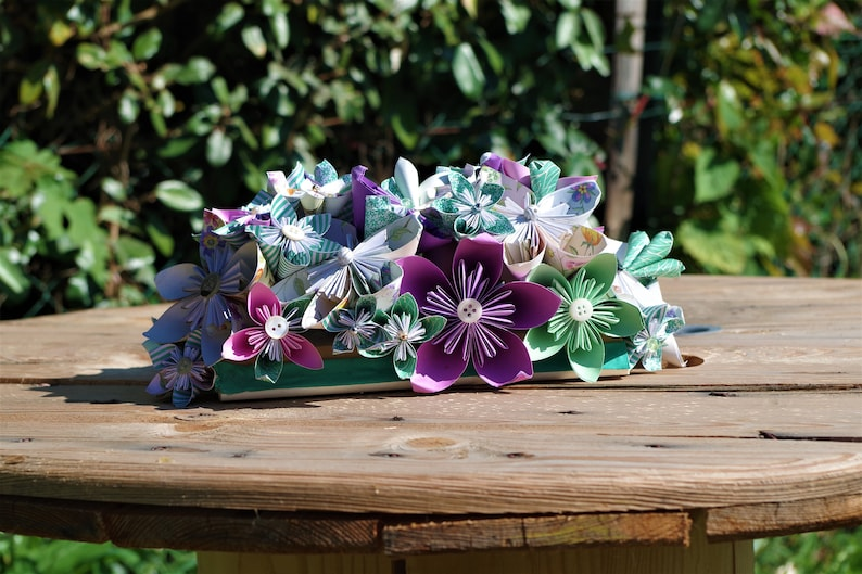 Floral origami table centre