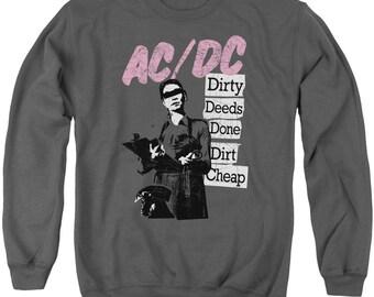 NEW AC//DC Mens Adult Sizes S-M-L-XL-2XL 1985 Fly on the Wall Concert T-Shirt