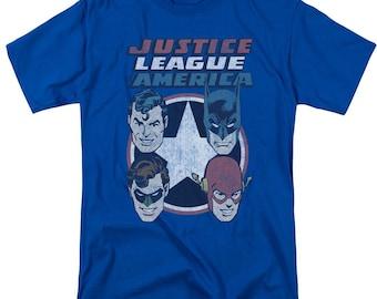 Justice League Of America Lantern Glow Adult Tank Top