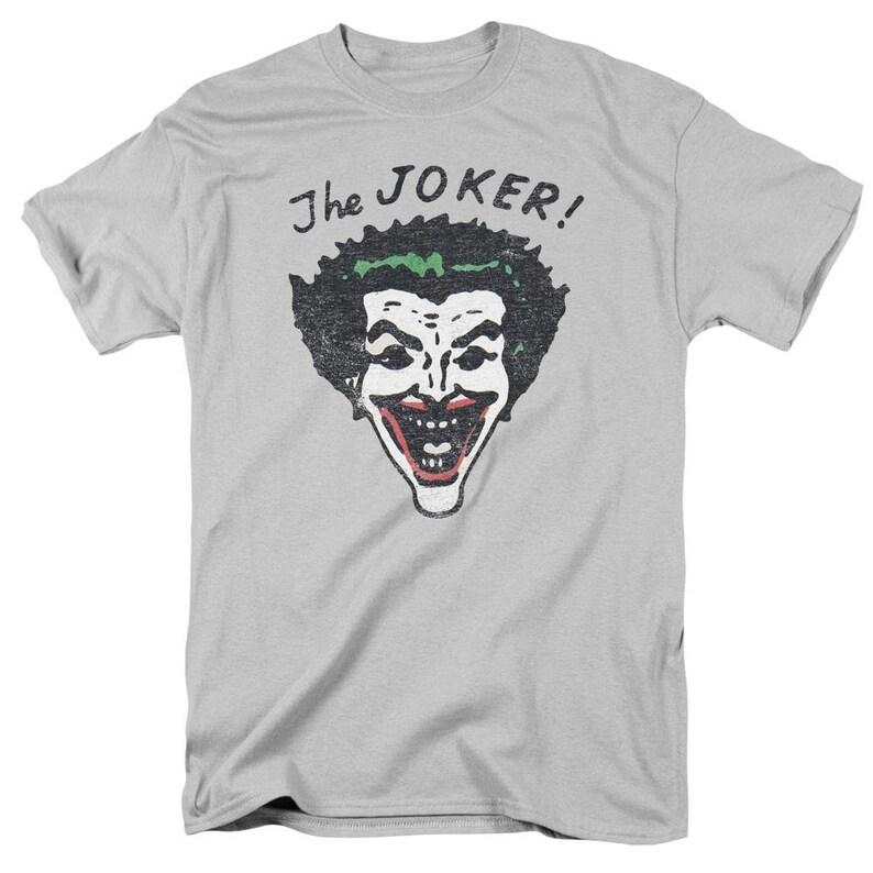 Unisex Adult Short Sleeve T-Shirt Retro Joker Batman Shirt