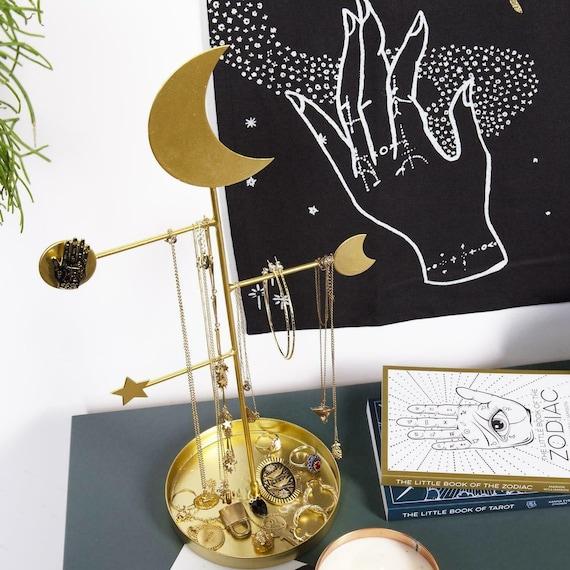 Sale Celestial Moon Stars Gold Jewellery Organiser Stand Etsy