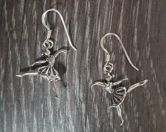 Sterling Silver Ballerina Earrings