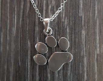 Sterling Silver Paw Necklace